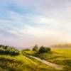 Картина «Утро» - автор художник Сергей Елизаров, живопись, холст, масло, 30×50 см, 2019 год.