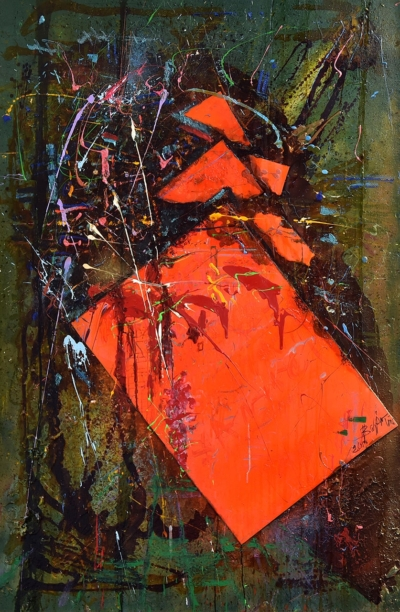 Картина «Мрак и Ярость» - автор художник Николай Закрытный, живопись, холст, масло, 153х100 см, 2019 год.
