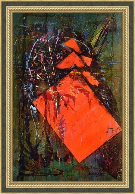 Картина «Мрак и Ярость» в багетной раме